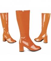 Glimmende oranje laarzen voor vrouwen