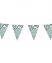 Glimmende vlaggenlijn zilver 10 meter