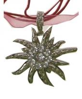 Glinsterende edelweiss ketting van metaal