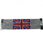 Glitter armband met vlag van engeland