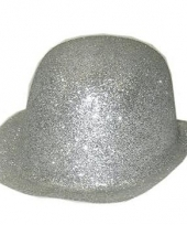 Glitter bolhoed zilver