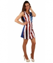 Glitter jurk met amerikaanse vlag