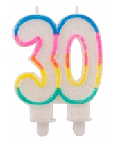 Glitter taartkaars 30