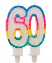 Glitter taartkaars 60