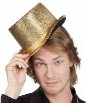 Glitterende hoge hoed goud