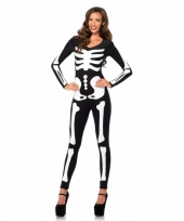 Glow in the dark botten catsuit voor dames