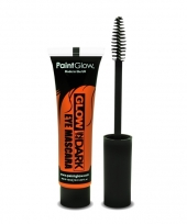 Glow in the dark make up oranje mascara
