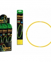 Glow in the dark staafjes geel 2 stuks