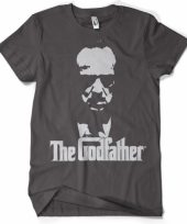 Godfather kleding heren shirt grijs