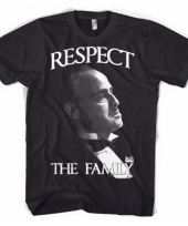 Godfather kleding respect-shirt heren