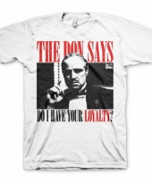 Godfather loyalty kleding heren shirt