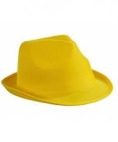 Goedkoop geel feesthoedje