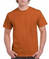 Goedkope gekleurde shirts bruin donkeroranje voor volwassenen