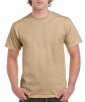 Goedkope gekleurde shirts camel voor volwassenen