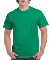 Goedkope gekleurde shirts groen voor volwassenen