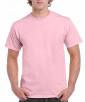 Goedkope gekleurde shirts licht roze voor volwassenen