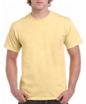 Goedkope gekleurde shirts licht vegasgoudgeel voor volwassenen