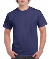 Goedkope gekleurde shirts marine blauw voor volwassenen