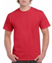 Goedkope gekleurde shirts rood voor volwassenen