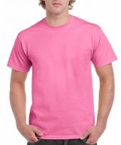 Goedkope gekleurde shirts roze voor volwassenen