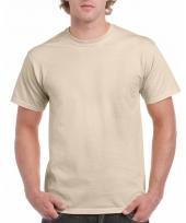 Goedkope gekleurde shirts zandkleur voor volwassenen