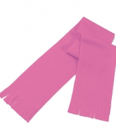 Goedkope polar fleece sjaaltje roze voor kinderen