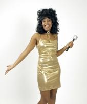 Goud glimmend disco jurkje