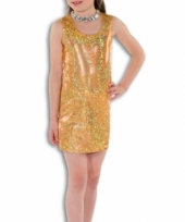 Goud glitter jurkje voor meisjes