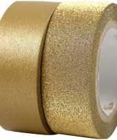 Goud knutsel tape 2 rollen