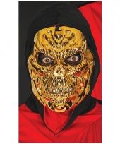 Goud skeletten masker voor halloween feest