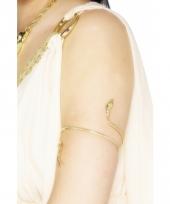 Gouden armband met slang volwassenen