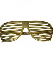 Gouden brillen lamel