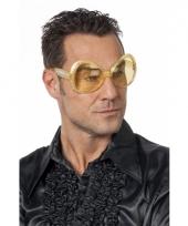 Gouden feestbril met diamantjes