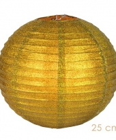Gouden glitter lampionnen 25 cm