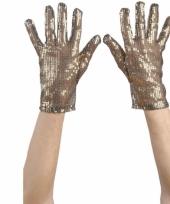 Gouden handschoen met pailletten
