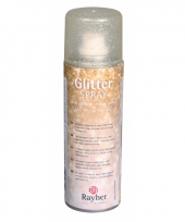 Gouden hobby glitterspray fijn