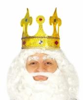 Gouden keizers kroontje met glitters
