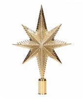 Gouden kerstversiering piek 19cm