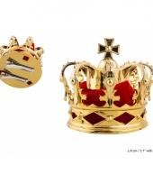 Gouden kroontje haarclip