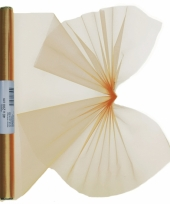 Gouden organza op rol 40 x 200 cm