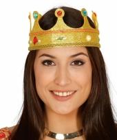 Gouden prinsessen kroontje met glitters