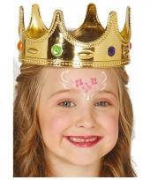 Gouden prinsessen kroontje voor kinderen