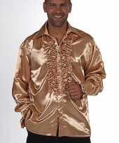Gouden rouches blouse voor heren