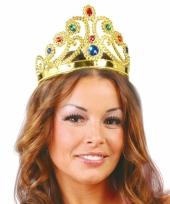Gouden tiara met edelsteentjes voor prinsessen