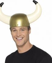 Gouden viking helm voor volwassenen