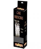 Gouden vuurwerk feeststerretjes 18 cm