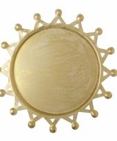Gouden zon onderzet bord 19 cm