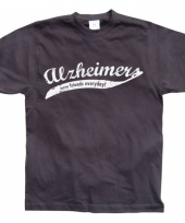 Grappig heren t-shirt alzheimer