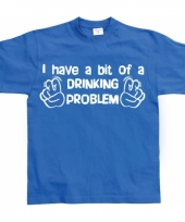 Grappig heren t-shirt drinking problem