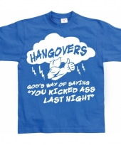 Grappig heren t-shirt hangovers